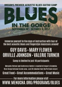 Blues In The Gorge Acoustic Blues Guitar Camp