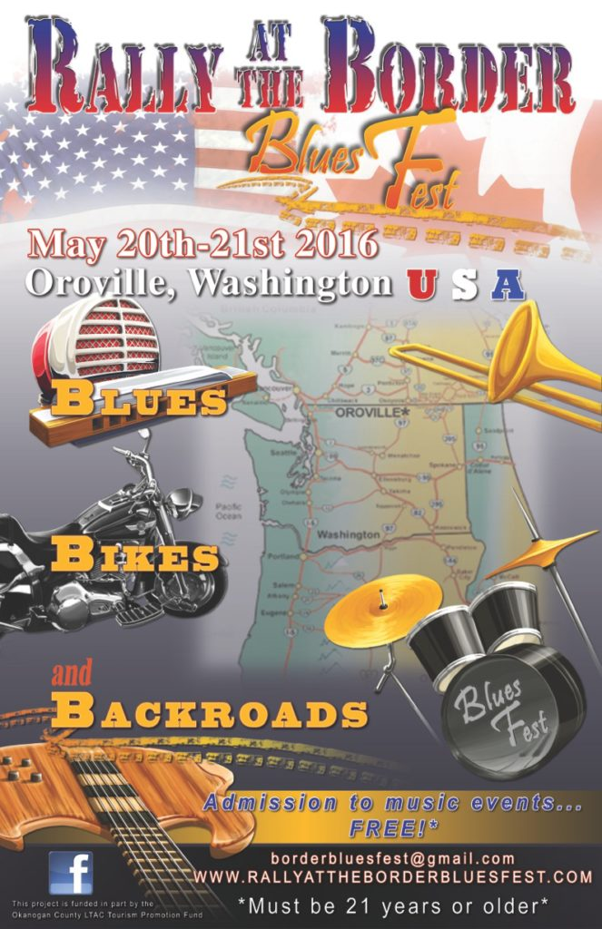 Rally At The Border Blues Fest Poster