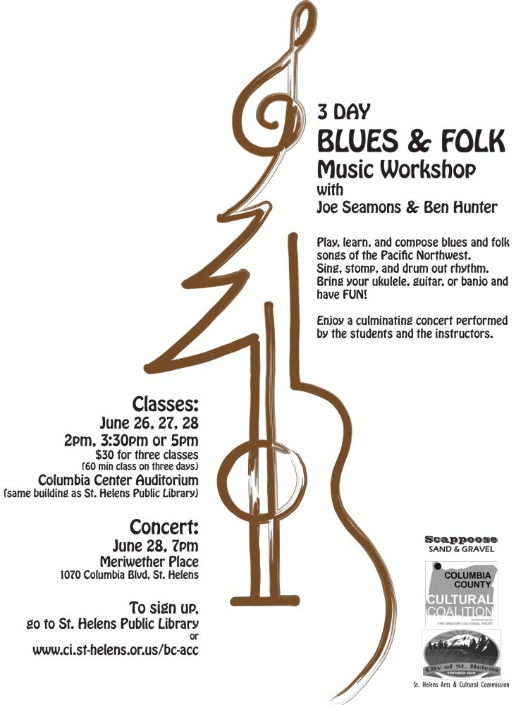 St. Helens Blues & Folk Music Workshop flyer