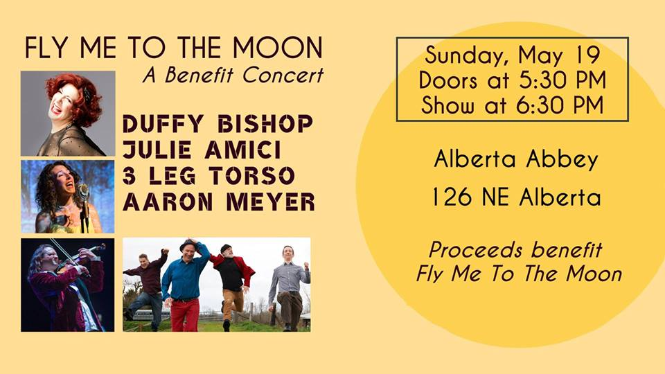 Alberta Abbey to Host NW Musicians Fundraiser to Aid Fly Me To The Moon Organization
