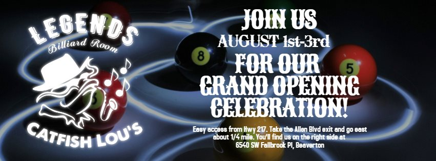 Catfish Lou's Grand Re-opening – Blues, Brews & Cues