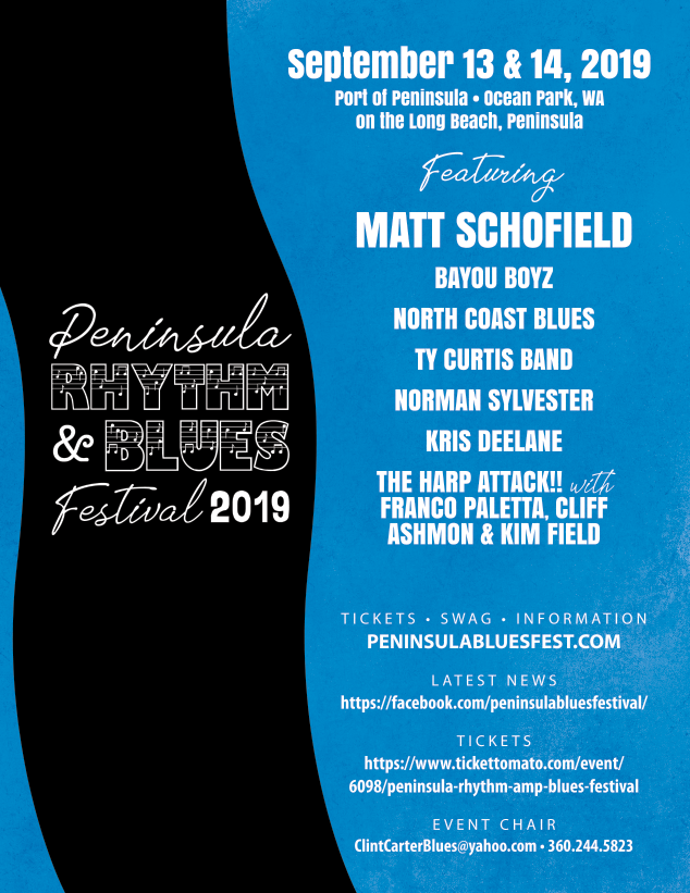 3rd Annual Peninsula Rhythm & Blues Festival!