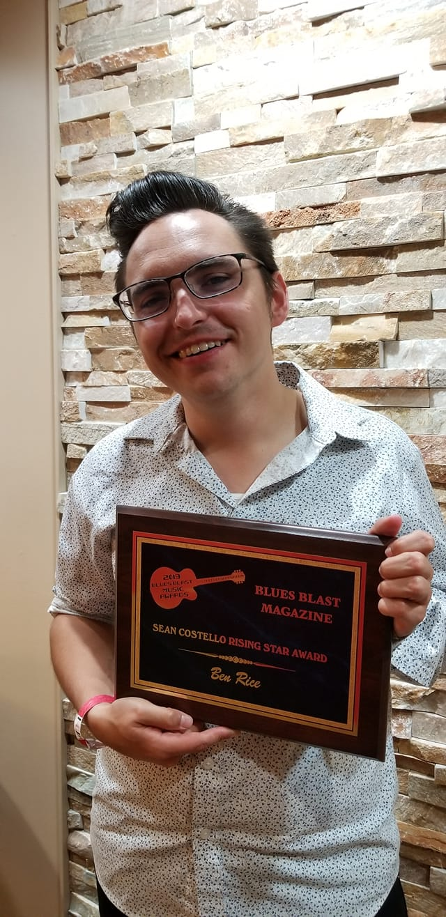 Blues Blast Awards Honors Ben Rice