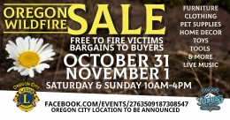 Oregon Wildfire Sale