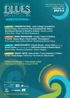 Waterfront Blues Festival July 2-5, 2021