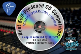 Best Self-Produced CD Entry Deadline Oct 6th