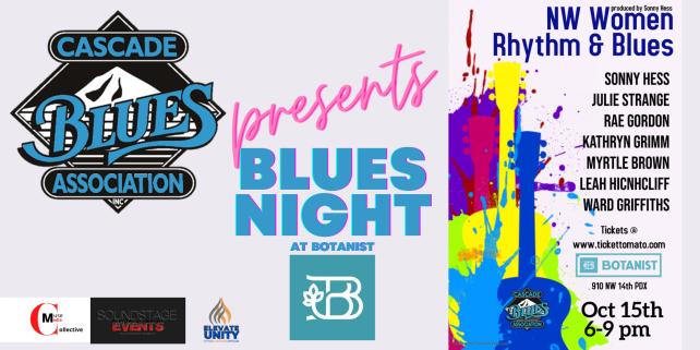 CBA Presents Blues Night - NW Women Rhythm & Blues